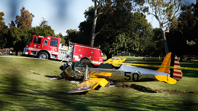 Actor Harrison Ford seriously injured in plane crash