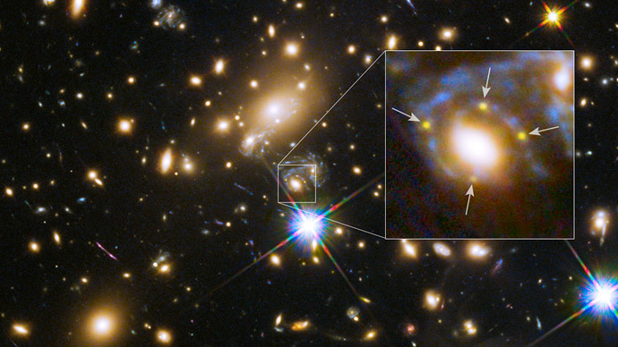 Exploding star observed 4 times over, thanks to unique gravitational lensing