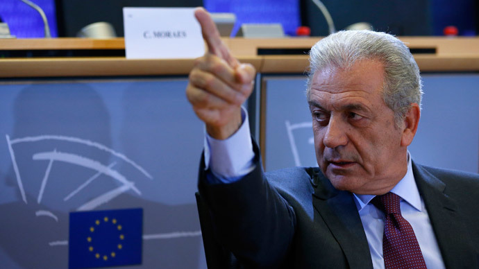 European Migration and Home Affairs Commissioner-designate Dimitris Avramopoulos.(Reuters / Yves Herman )