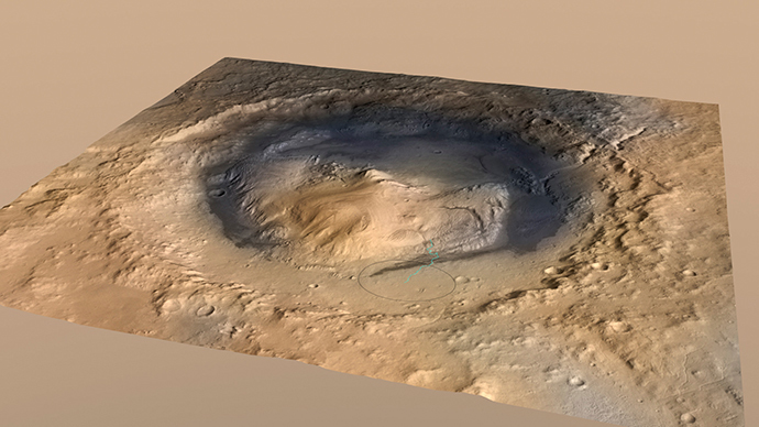 Gale Crater on the planet Mars (Reuters / NASA / Handout via Reuters)
