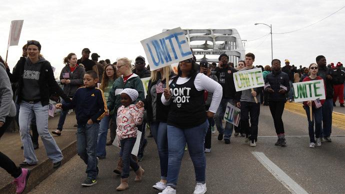 'Black lives matter': 70,000 march across 'Bloody Sunday' bridge in Selma (PHOTOS, VIDEO)