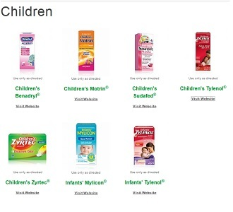 McNeil Consumer Healthcare makes over-the-counter drugs for kids (Screenshot from mcneil-consumer.com)