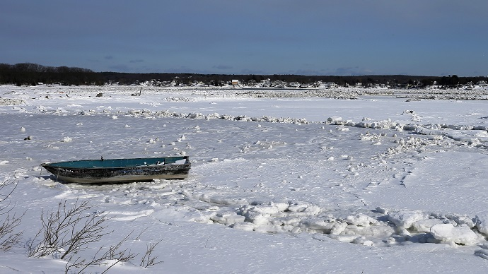 Never-ending winter: Cape Cod freezes over as icebergs wash ashore