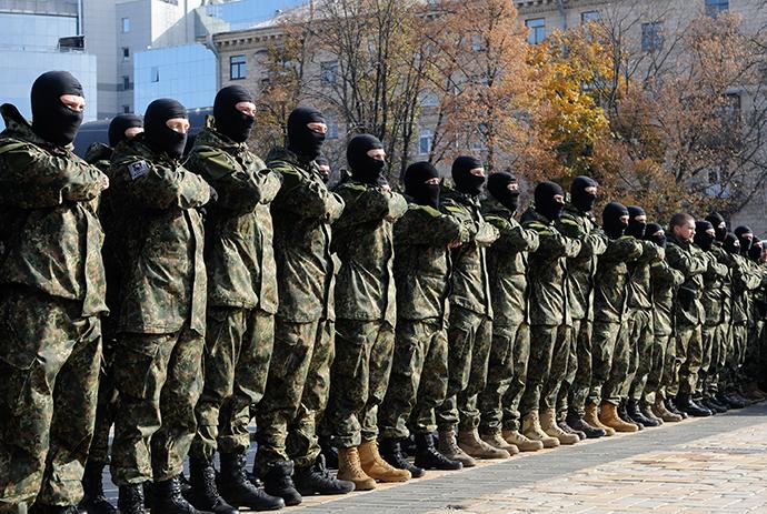 Students of the Azov battalion are dispatched to the conflict zone in southeastern Ukraine (RIA Novosti / Alexandr Maksimenko)