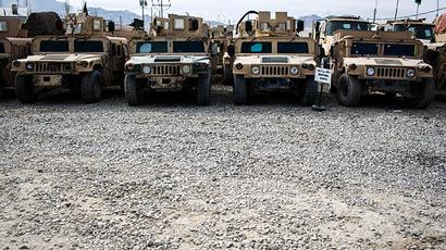 US Humvees (Reuters / Lucas Jackson)