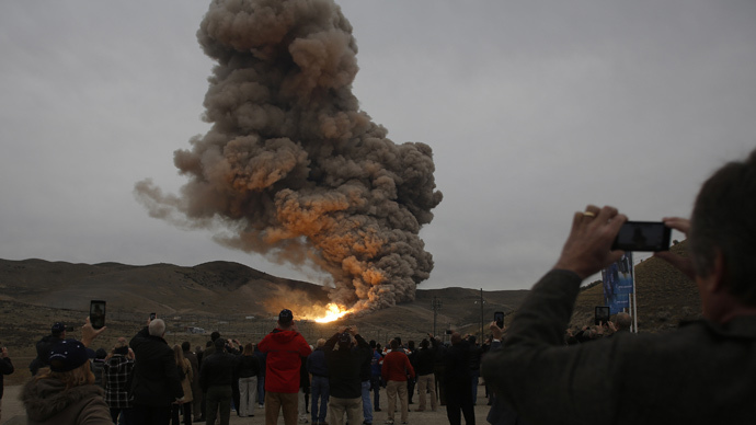 To Mars...someday: NASA successfully tests megarocket booster for deep-space system (VIDEO)