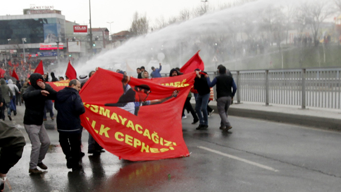 Turkish police disperse rallies honoring teen slain in Gezi protests