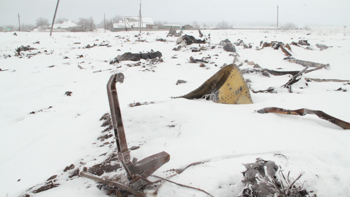 At the crash site of of the Malaysian Boeing 777 near the village of Grabovo not far from Shakhtersk in the Donetsk region. (RIA Novosti)