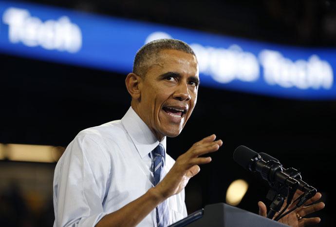 U.S. President Barack Obama (Reuters/Kevin Lamarque)
