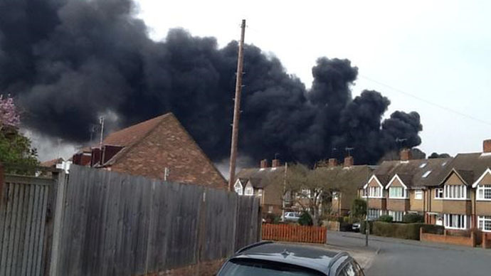 Huge fire at school near London, residents report explosion