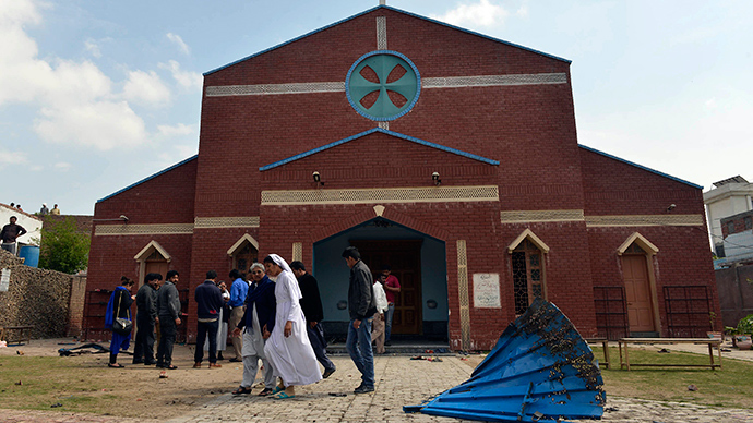 At least 14 dead, dozens wounded in twin blasts at Christian churches in Lahore, Pakistan