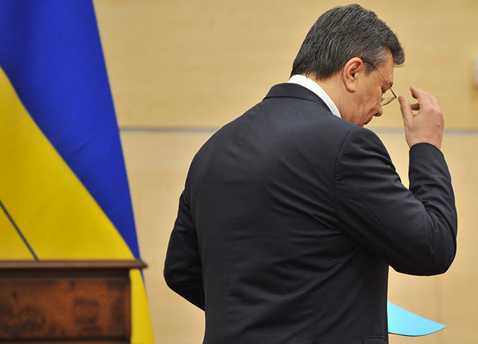Viktor Yanukovich after a news conference in Rostov-on-Don (RIA Novosti)
