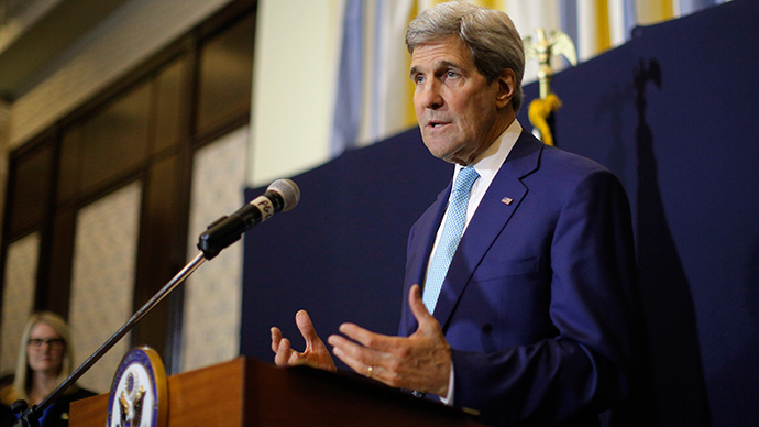 Kerry says US wants to negotiate with Assad… State Dept denies
