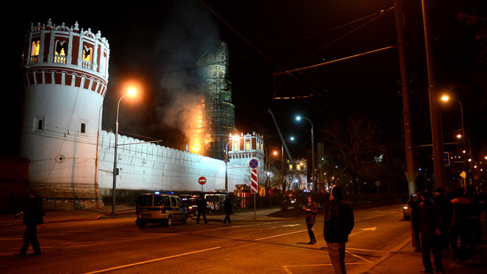 Moscow's landmark 16th century Novodevichy Convent on fire (PHOTOS, VIDEO)