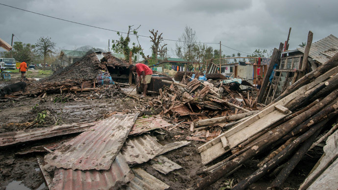 Scattered debris outside local homes after the area was badly damaged by Cyclone Pam, outside the Vanuatu capital of Port Vila.(AFP Photo / Unicef Pacific )