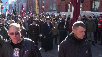 Latvia's Waffen-SS veterans march alongside far-right lawmakers (VIDEO)
