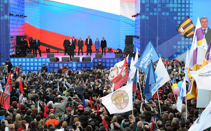 100,000 gather in central Moscow to celebrate Crimea reunification K1
