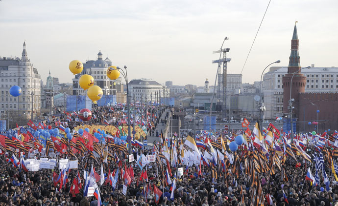 100,000 gather in central Moscow to celebrate Crimea reunification K2