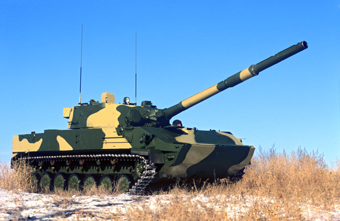 Sprut-SD airborne amphibious self-propelled tank destroyer. (RIA Novosti / Vjacheslav Afonin)