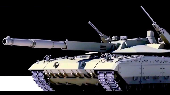 Russia's T-14 Armata Main Battle Tank. (A still from Youtube video by arronlee33)