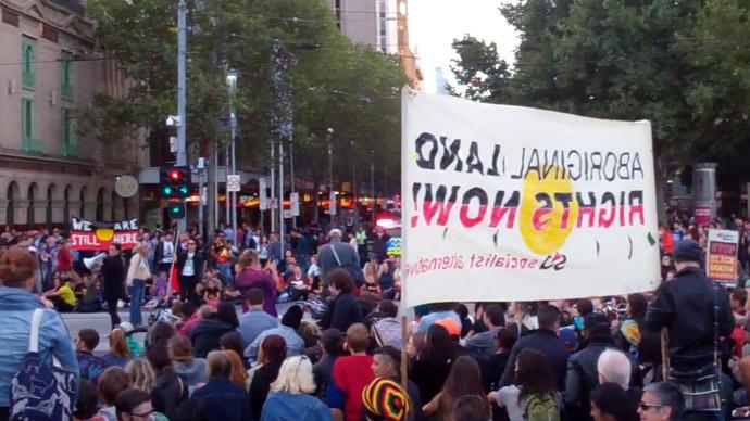 Rally against closure of indigenous communities in Australia