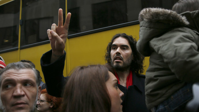 Russell Brand leads 'sleepover protest', activists reoccupy vacant properties