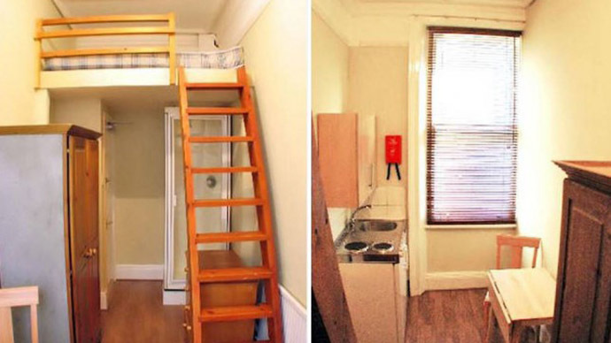 'Cozy & affordable': West London studio boasts a shower… under the bed