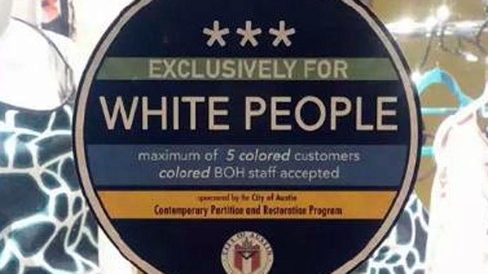 Racist stickers raise eyebrows in gentrified Austin neighborhood