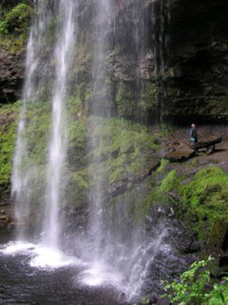Henrhyd Falls was used as the location of the Bat cave. (Credit: Brecon Beacons national park authority)