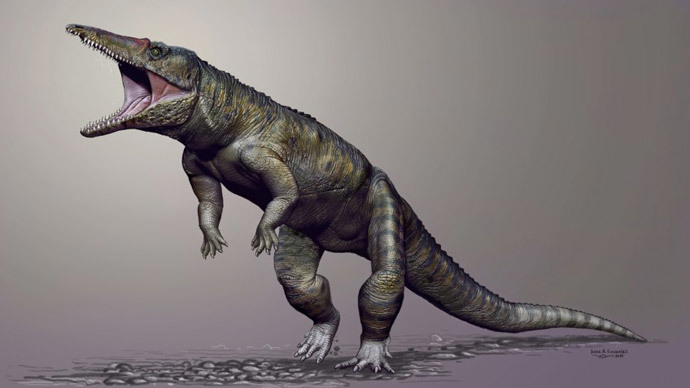 The 'butcher' croc that ruled the world before the dinosaurs