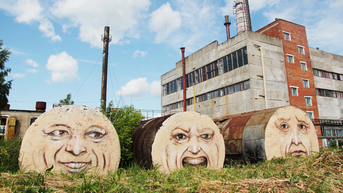 'The living walls': Russian artist breathes life into abandoned & shabby buildings (PHOTOS)