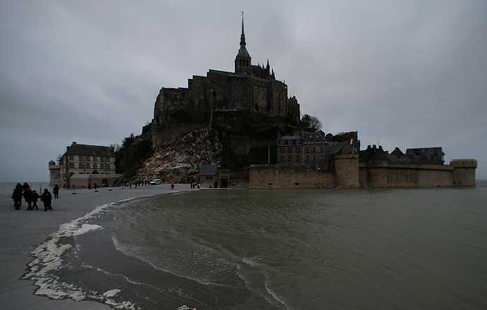 A general view shows the Mont Saint-Michel off France's Normandy coast March 19, 2015 (Reuters / Pascal Rossignol)