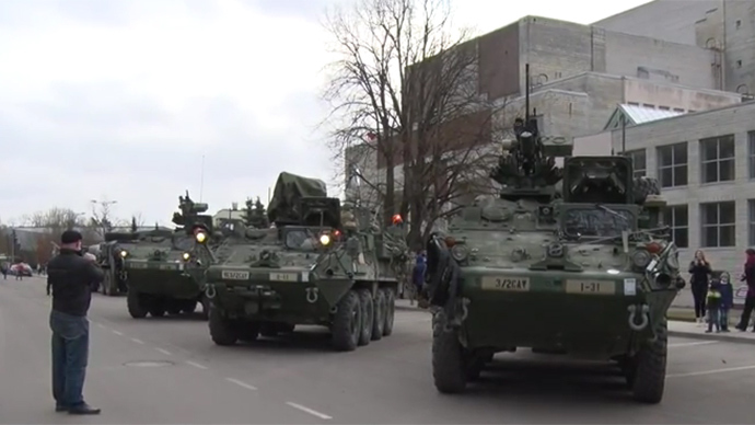 US military convoy parades through Eastern Europe (VIDEOS