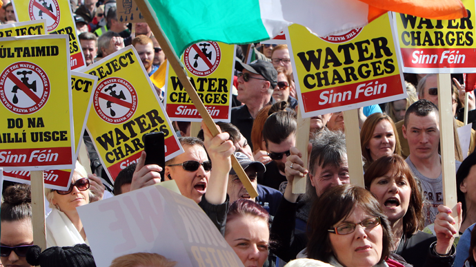 'Can't take any more': Thousands protest in Dublin against proposed water charges (PHOTOS)