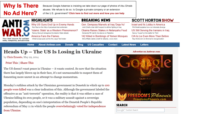 US news website accuses Google of censorship over photos of Abu Ghraib, dead Ukrainians (GRAPHIC)