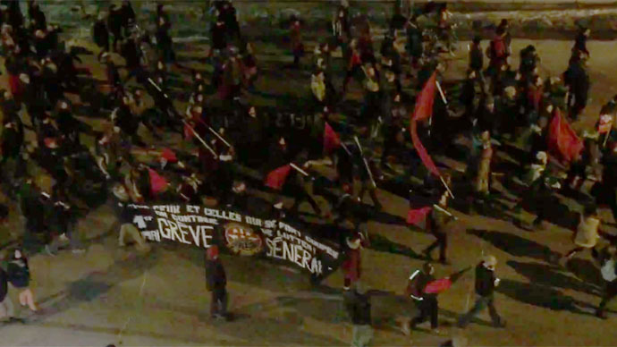 Tear gas, rubber bullets as police disperse Canadian students' anti-austerity rally