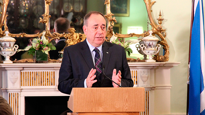 Alex Salmond accused of 'sabotage' after vowing to block Tory reelection