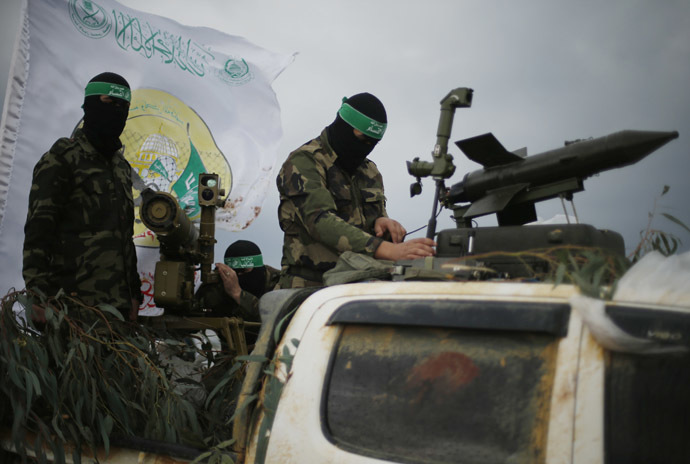 Palestinian members of al-Qassam Brigades. (Reuters / Suhaib Salem)