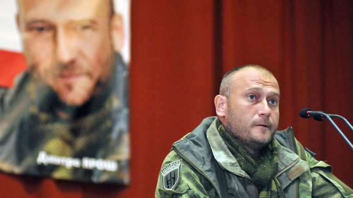 Right Sector's leader Dmitry Yarosh.(RIA Novosti / Pavel Palamarchuk)