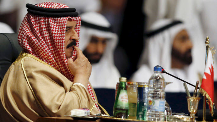 Bahrain's King Hamad bin Isa al-Khalifa attends the opening meeting of the Arab Summit in Sharm el-Sheikh, in the South Sinai governorate, south of Cairo, March 28, 2015. (Reuters / Amr Abdallah Dalsh )