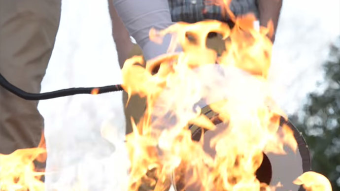 All about that bass: Sound-based fire extinguisher puts out flames (VIDEO)