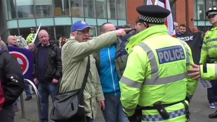 Intoxicated rage: UK police detain white pride activists amid clashes (VIDEO)