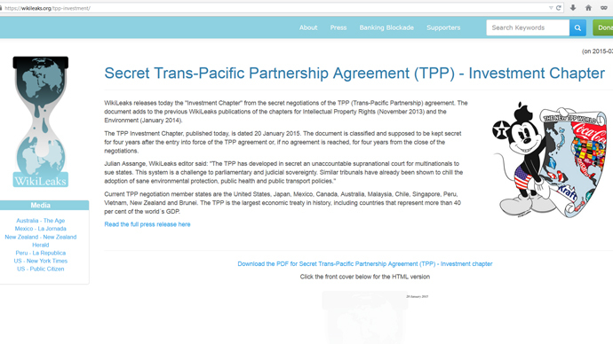 Leaked TPP investment chapter: Corporations can sue states in private courts