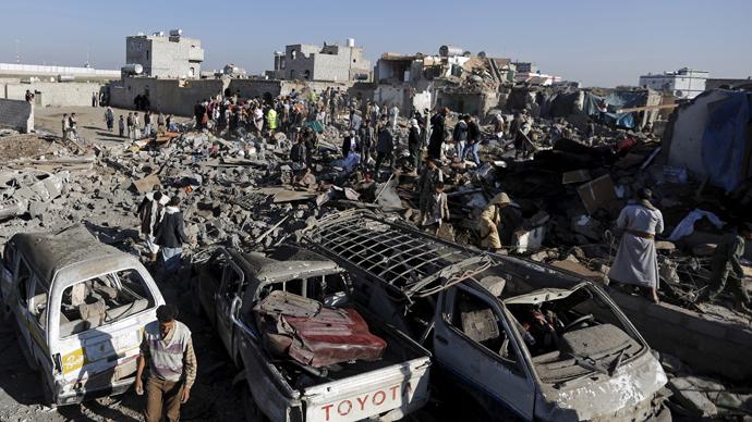 '45 people killed, 65 injured': Yemen refugee camp hit by airstrike
