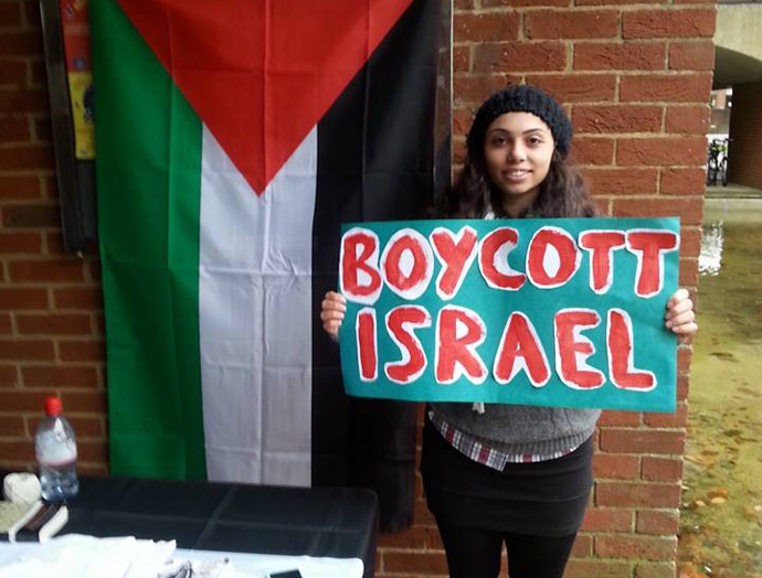 Roua Naboulsi, Palestine supporter. (Credit: Sussex Friends of Palestine Society)