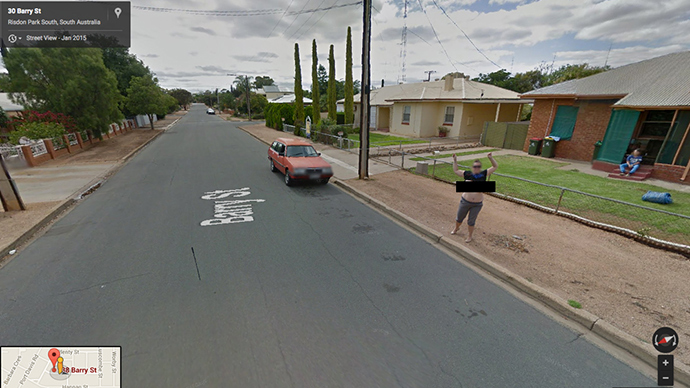 Busted! Aussie Google Street View flasher charged by police