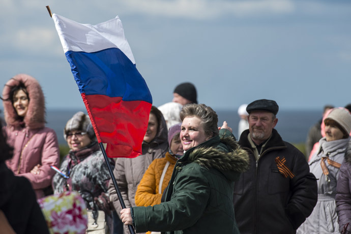 Celebrating the Crimean Spring anniversary in Sevastopol. (RIA Novosti/Evgeny Biyatov)