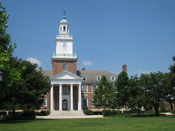 Gilman Hall, Johns Hopkins University, Baltimore, Maryland, USA. (Image from Wikipedia)