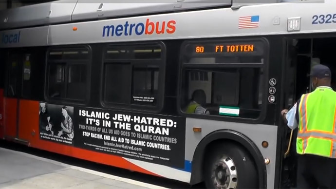 'Islamic Jew-hatred' ads with Hitler appear on Philly buses