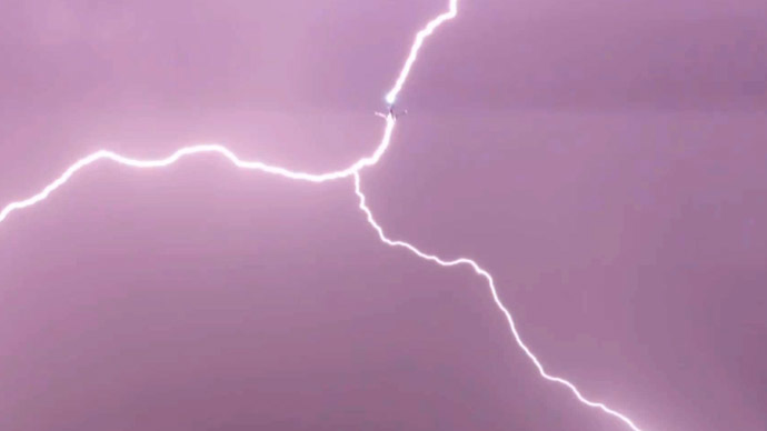 Lightning never strikes twice? 2 planes hit by lightning within seconds (VIDEO)